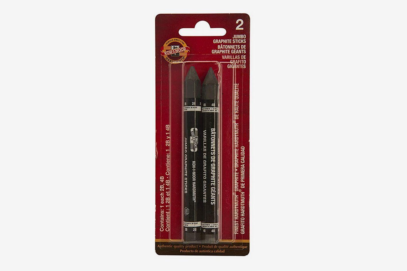 Koh-I-Noor Jumbo Graphite Stick Set, 2B and 4B Degrees