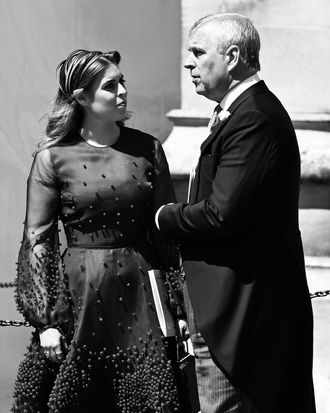 Princess Beatrice and Prince Andrew.
