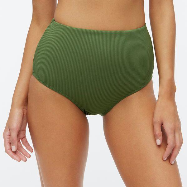 J.Crew Ribbed High-Waisted Bikini Bottom