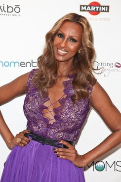 "NEW YORK, NY - FEBRUARY 16:  Iman poses for a photo during the Strut: The Fashionable Mom show held at Location on February 16, 2012 in New York City.  On Thursday, February 16 at 3pm, the first-ever ""Strut: The Fashionable Mom Show,"" premiered as part of Mercedes-Benz Fashion Week. The event was developed by The Moms, a multi-platform lifestyle brand; Mom-entum, a division within social media agency, Big Fuel; Getting Gorgeous, two top fashion and beauty bloggers and Stephanie Winston Wolkoff, Director of Fashion at Lincoln Center, and hosted by mom and supermodel Iman, with a collection of designers who are realistic for today's moms.  (Photo by Chelsea Lauren/Getty Images for The Fashionable Mom)"
