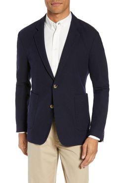 Billy Reid Dylan Regular Fit Knit Wool Blend Sport Coat