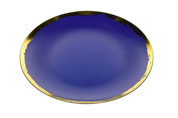 Trendables Premium 10.25-Inch Disposable Plastic Plates — Glam Design — 40 Pack