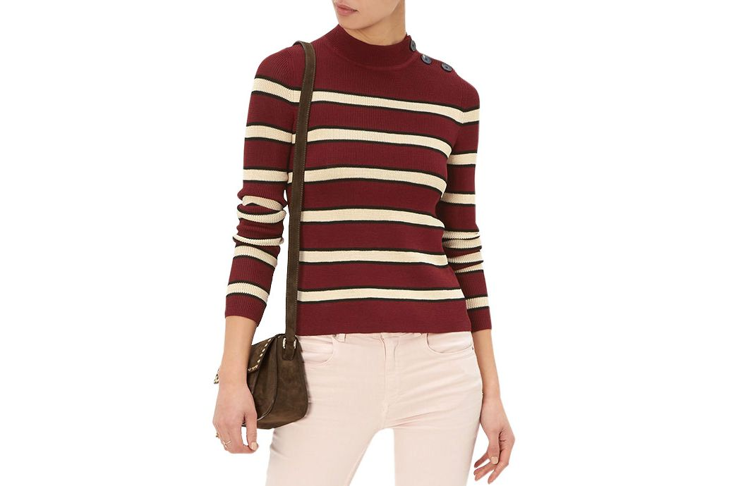 Isabel Marant Etoile Burgundy Striped Devona Jumper
