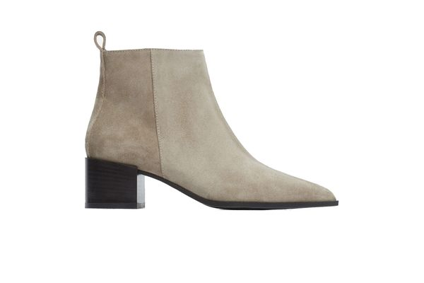 Everlane The Boss Boot in Taupe Gray Suede