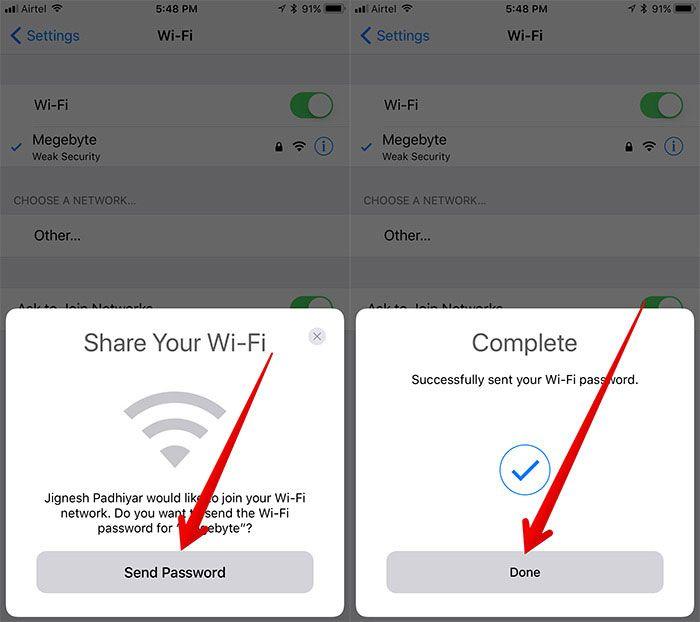 New Iphone Update Share Wifi