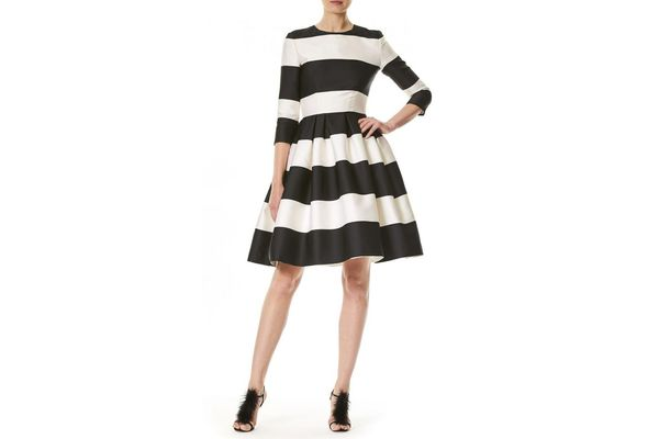 Carolina Herrera Striped A-Line Dress