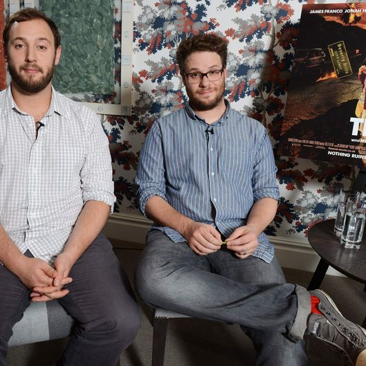 Evan Goldberg and Seth Rogen pose for a photocall for 'This Is The End' at The Soho Hotel on June 24, 2013 in London, England.