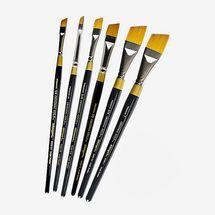 KingArt Six-Piece Original Gold Angular Shader Brush Set