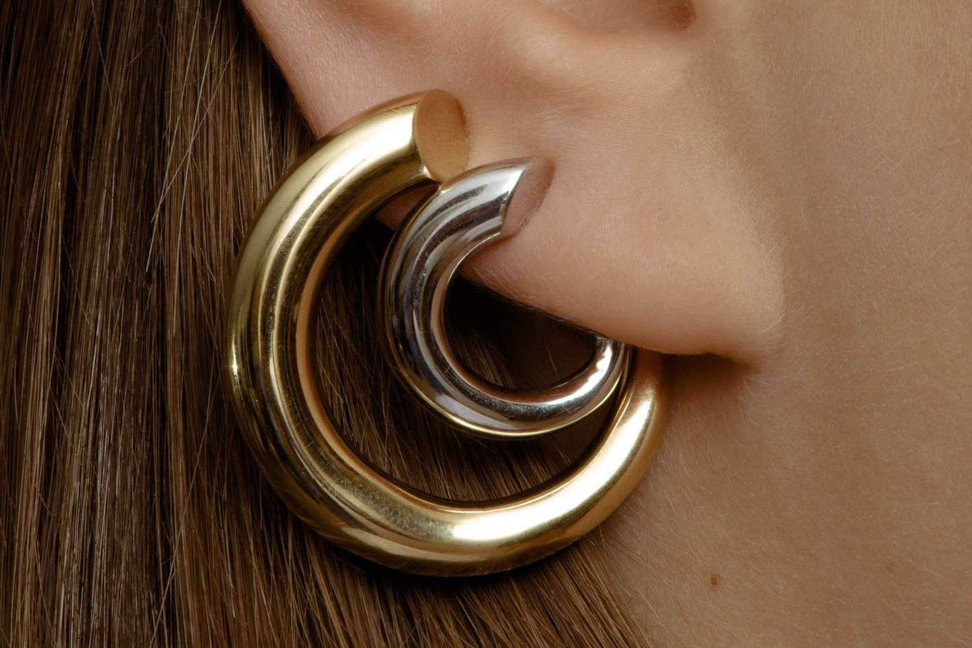 Charlotte Chesnais Monie Small Vermeil Hoop Earrings