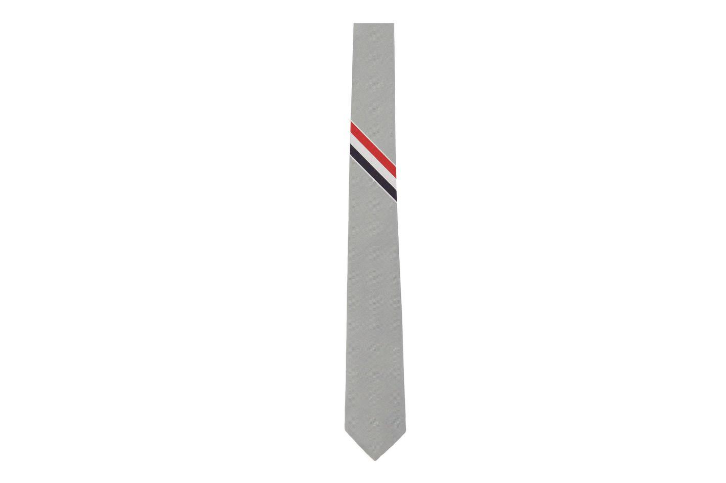 Thom Browne Grey Classic Tie
