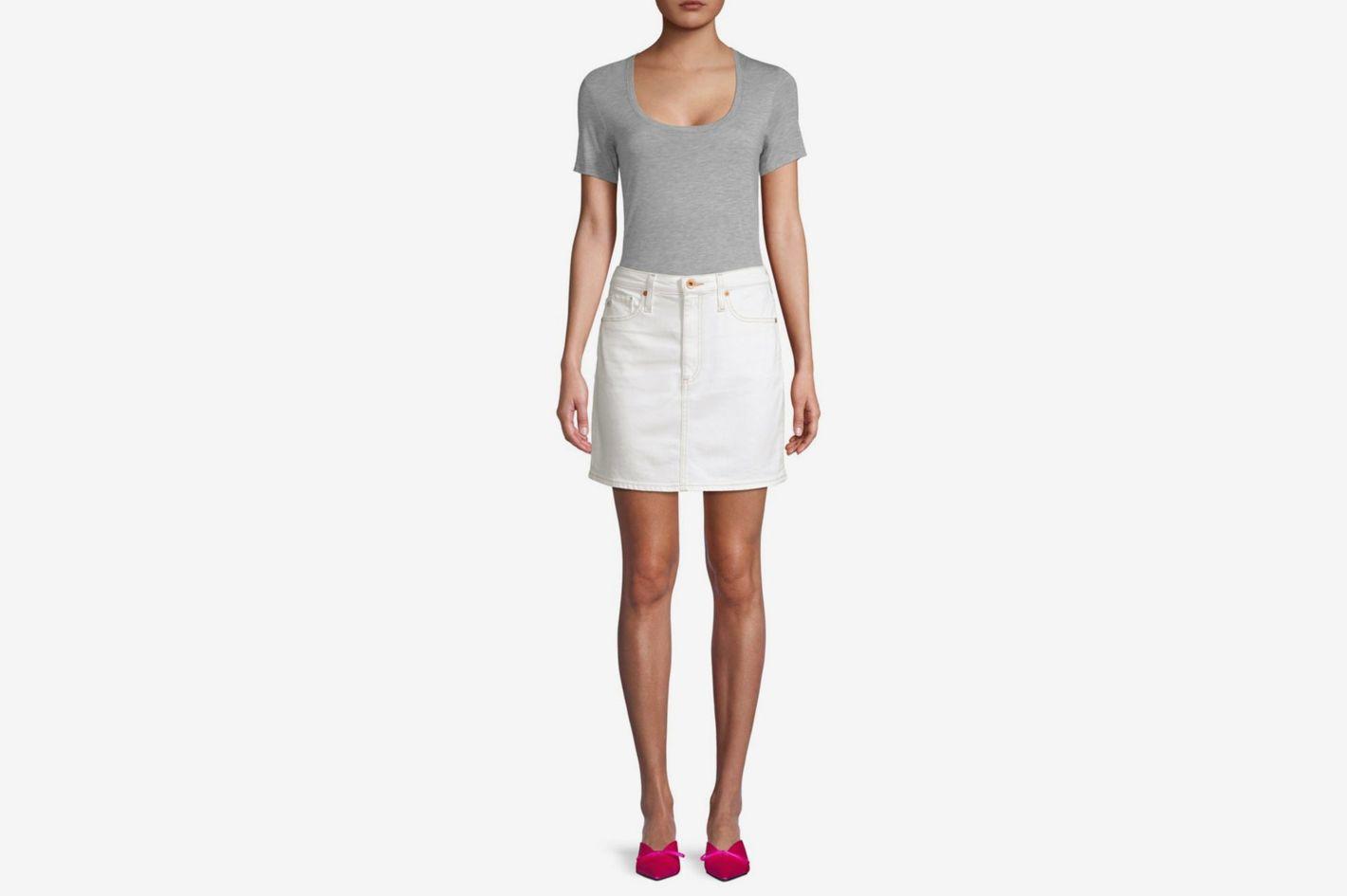 AG Jeans Denim Mini Skirt