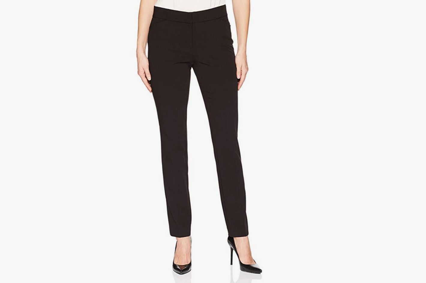 Lark & Ro Women's Straight Leg Trousers