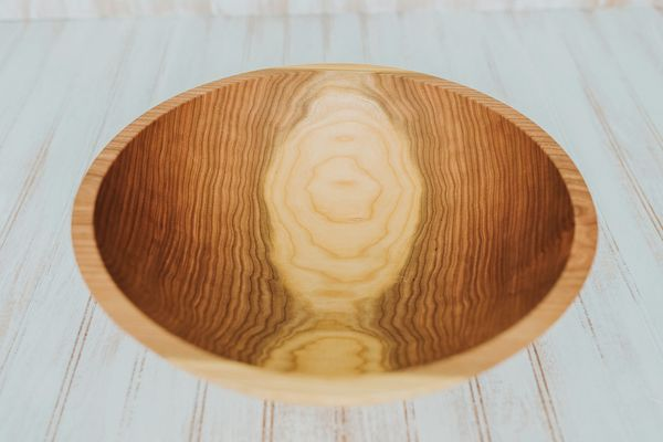 Holland Bowl Mill 15 inch Cherry Bowl – Bee's Oil Finish