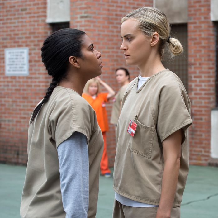 Jessica Pimentel as Maria, Taylor Schilling as Piper.