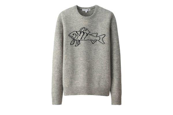 Men JWA Lambswool Crewneck Long-Sleeve Sweater
