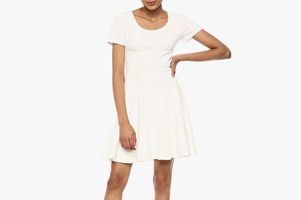 Rebecca Taylor Women's Short Sleeve Scoop Neck Dress