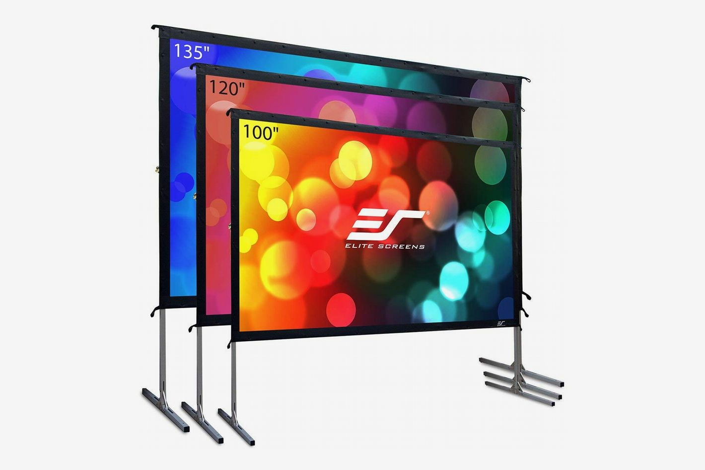 Elite Screens Yard Master 2, 120 inch Outdoor Projector Screen with Stand 16:9