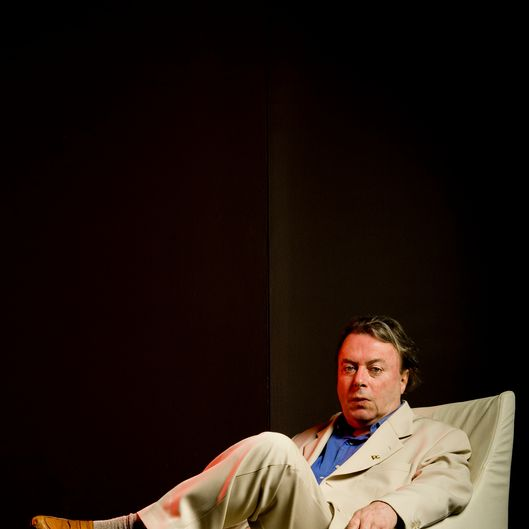 Christopher Hitchens poses during a portrait session on May 22, 2010 in Australia.