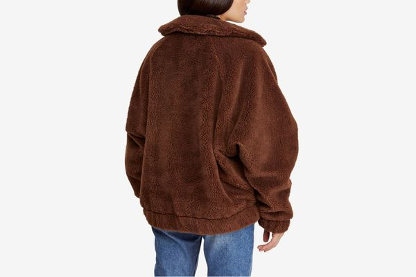 Urban Outfitters Batwing Faux Shearling Jacket