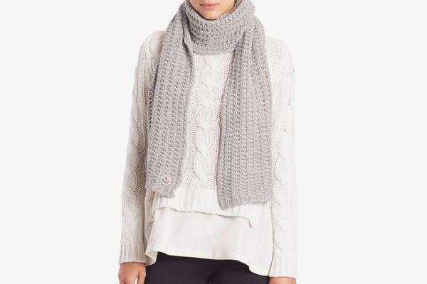 Moncler Virgin Wool Knit Scarf