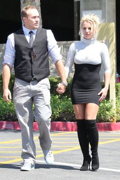 51171835 Singer Britney Spears wearing an extremely tight dress while attending church with her boyfriend David Lucado in Thousand Oaks, California on August 4, 2013. FameFlynet, Inc - Beverly Hills, CA, USA - +1 (818) 307-4813