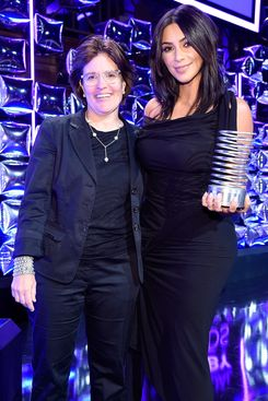 Kara Swisher and Kim Kardashian at the Webby Awards.