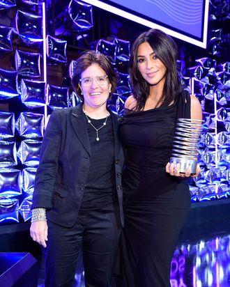 Kara Swisher and Kim Kardashian at the Webby Awards.