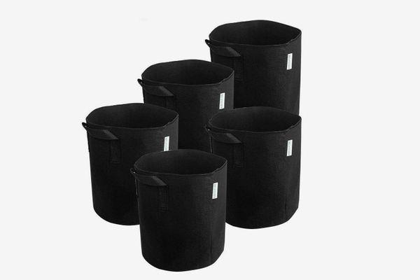 Melonfarm 5-pack 3-gallon Fabric Pots