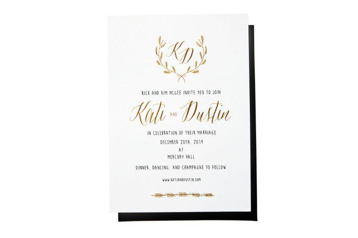 best calligraphic wedding invitations