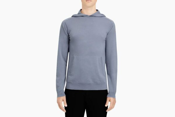 Theory Alcos Cashmere Hooded Pullover