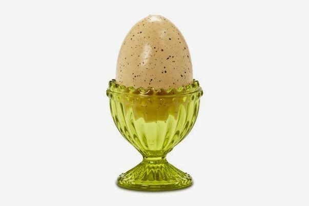 Green Reproduction Depression Glass Egg Cups, Set of 2