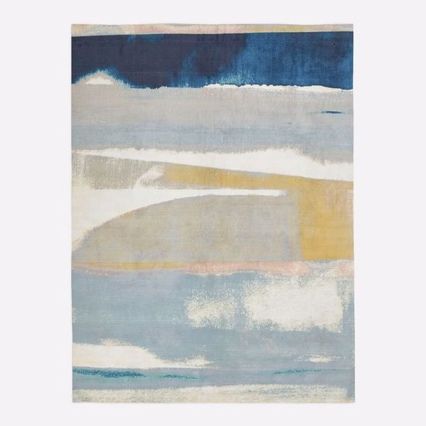 West Elm Sunkissed Landscape Rug, 5 x 8