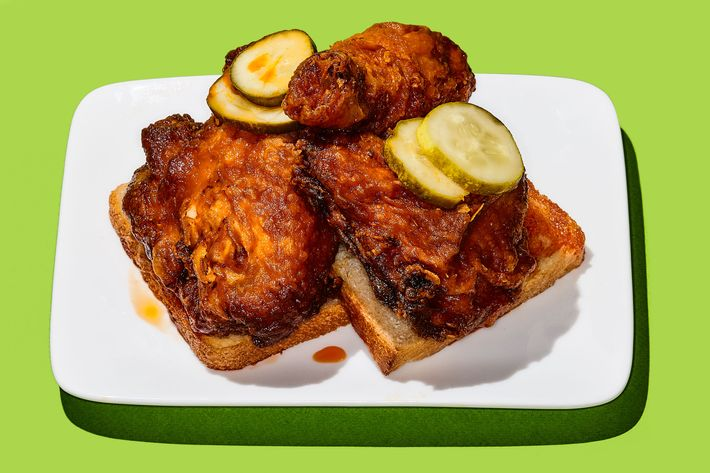 Carla Hall's Southern Kitchen's hot chicken.