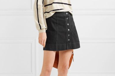 Madewell Metropolis stretch-denim mini skirt
