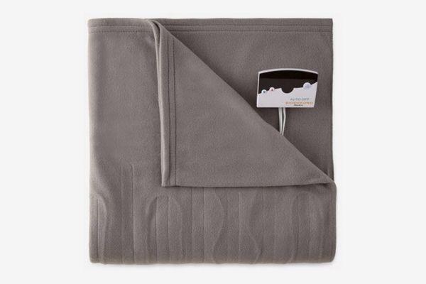 Pure Warmth Fleece Electric Heated Blanket, Full, Grey