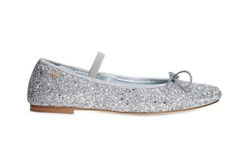 Chiara Ferragni Lace-Up Glitter Ballerina Flats