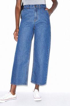 American Apparel Crop Wide Leg Jean