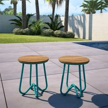Novogratz Bobbi Outdoor Accent Stool