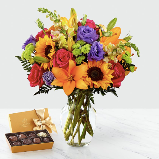 FTD Best Day Bouquet & Chocolate