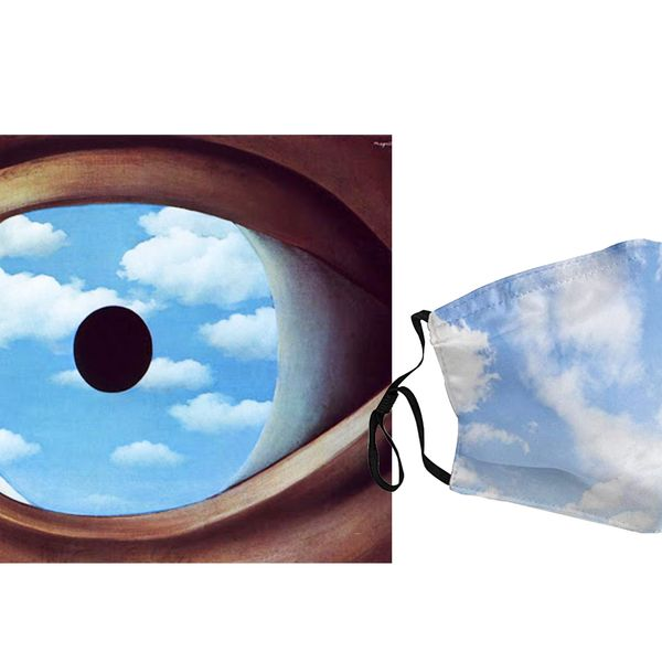 Blue Sky and White Cloud Print Mask