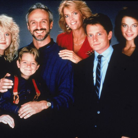 Cast Portrait From 'Family Ties