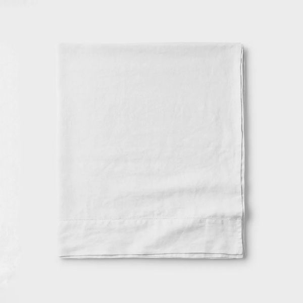 The Company Store Legends Hotel Relaxed Linen Flat Sheet, Full