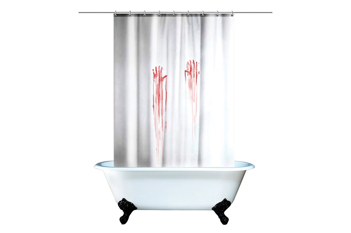 Spinning Hat Blood Bath Shower Curtain