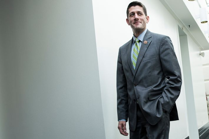 Rep. Paul Ryan (R-WI) walks to a meeting with House Republicans on Capitol Hill October 16, 2013 in Washington, DC. House Republicans are meeting after Senate Democrat and Republican leadership agreed on a compromise to reopen the US federal government funding it to mid January address the debt limit till early February.