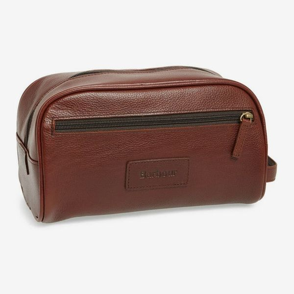 Barbour leather travel case
