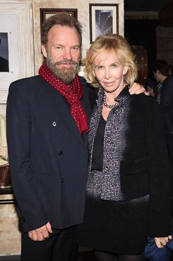 Sting and Trudie Styler at the <i>Hughie</i> party.