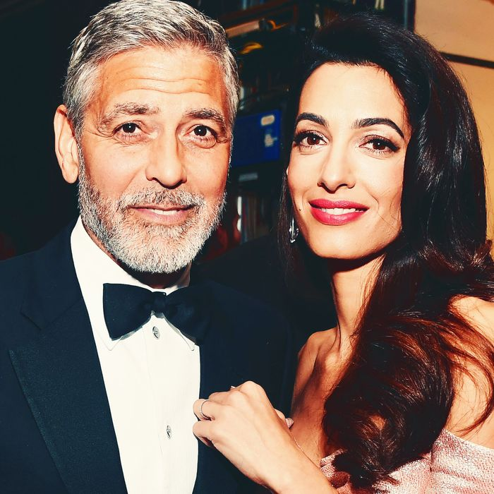 George and Amal Clooney.