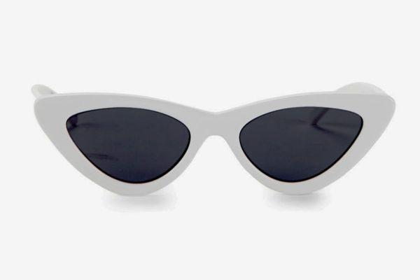 Adam Selman x Le Spec Luxe the Last Lolita White Sunglasses
