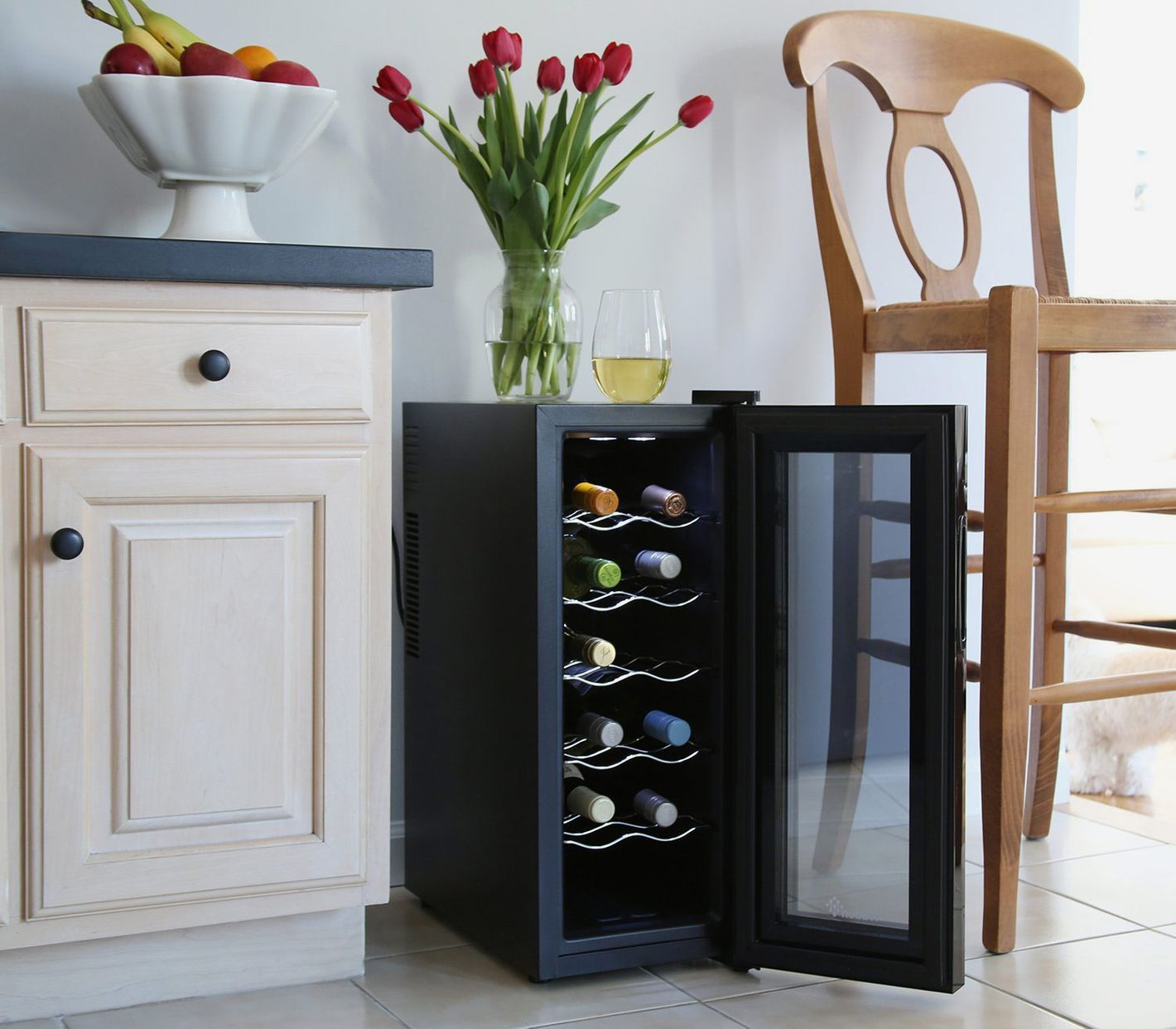 Ivation 12-Bottle Thermoelectric Red and White Wine Cooler