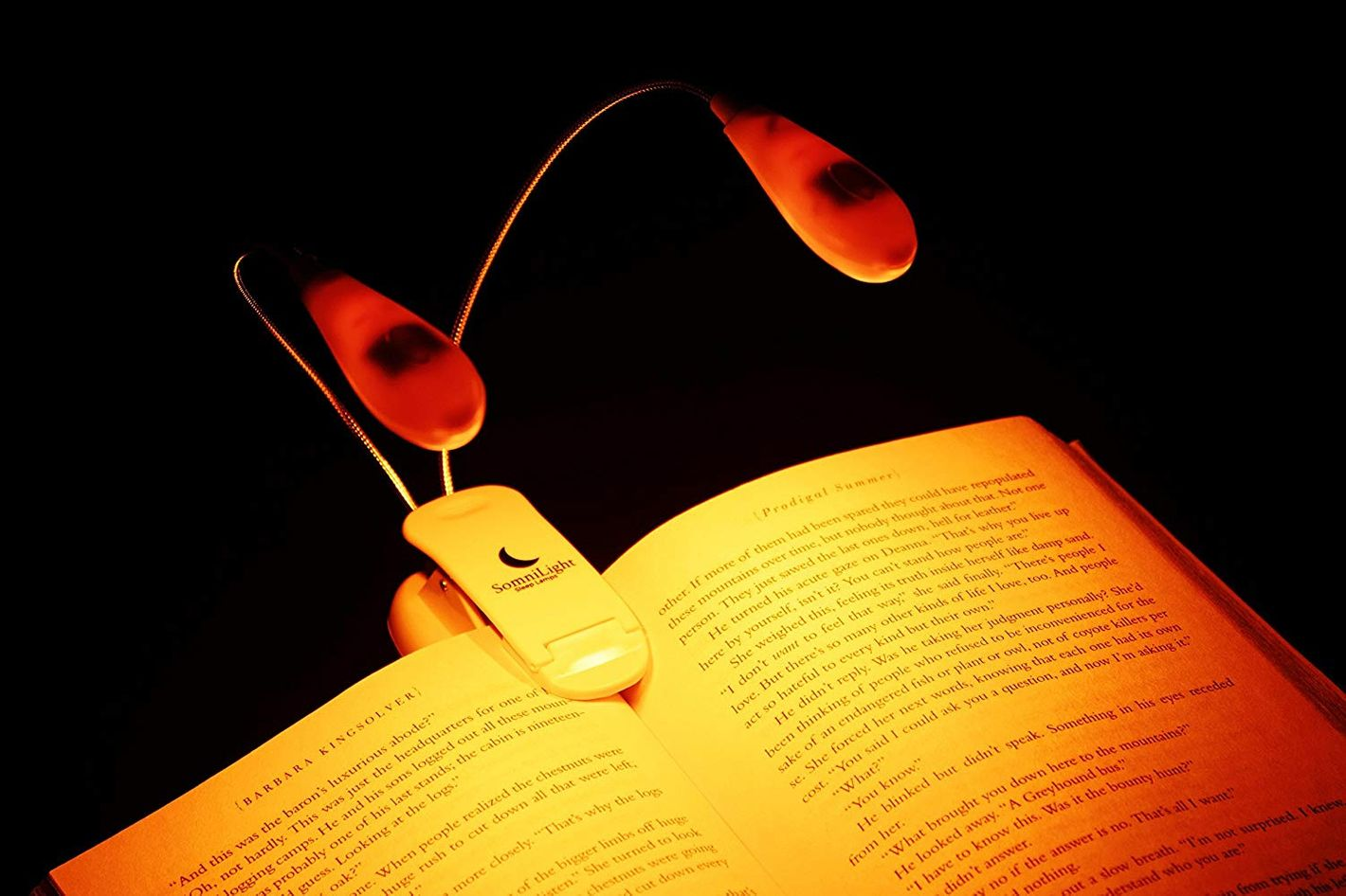 Somnilite Rechargable Amber Book Light